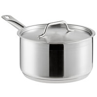 Vigor 3 Qt. Stainless Steel Sauce Pan with Aluminum-Clad Bottom and Cover