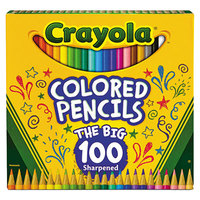 Crayola 688100 100 Assorted Long Barrel 3.3mm Colored Pencils