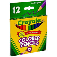 Crayola 684112 12 Assorted Short Barrel 3.3mm Colored Pencils