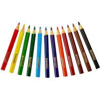 Crayola 684112 12 Assorted Short Barrel 3.3mm Colored Pencils
