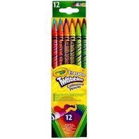 Crayola 687408 Twistables 12-Color Assorted 2mm Colored Pencil Set