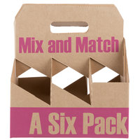 6 Pack Cardboard Wine Bottle Carrier - 50/Case
