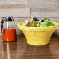 Homer Laughlin 431320 Fiesta Sunflower 1.25 Qt. Hostess Serving Bowl - 4/Case