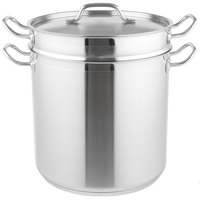 20 Qt. Stainless Steel Aluminum-Clad Pasta Cooker Combination