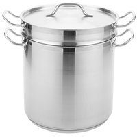 Vigor 20 Qt. Stainless Steel Aluminum-Clad Pasta Cooker Combination