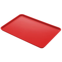 Cambro 1826CL163 18 inch x 26 inch Rose Red Camlite Tray - 12/Case