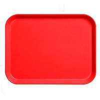 Cambro 1826CL163 Camlite 18 inch x 26 inch Red Tray - 12/Case