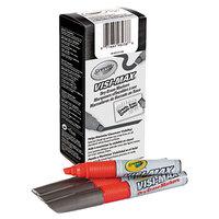 Crayola 986012038 Visi-Max Red Chisel Tip Dry Erase Marker - 12/Pack