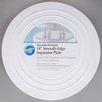 Wilton 302-4105 Decorator Preferred Round Smooth Edge Cake Separator Plate - 14 inch