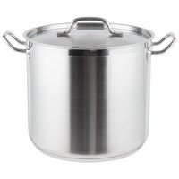 Vigor 16 Qt. Heavy-Duty Stainless Steel Aluminum-Clad Stock Pot with Cover
