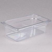 Carlisle 3066107 StorPlus 1/3 Size Clear Polycarbonate Food Pan - 4 inch Deep