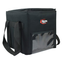 Sterno 70516 Black Large Delivery Insulated Food Carrier, 11 1/2 inch x 11 1/2 inch x 12 inch - Holds (3) 9 inch x 9 inch x 3 inch Meal Containers