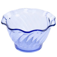 GET DD-50-BL Dessert Time 5 oz. Transparent Blue 3 3/4 inch Tulip Dessert Dish - 48/Case