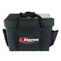 Sterno Products 70528 16 inch x 12 inch x 16 1/2 inch Large Delivery Deluxe Insulated Food Carrier - Holds (5+) 9 inch x 9 inch x 3 inch Meal Containers
