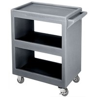 Cambro BC225191 Granite Gray Three Shelf Service Cart - 28 inch x 16 inch x 32 1/4 inch