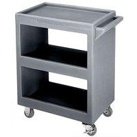 Cambro BC225191 Granite Gray Three Shelf Service Cart - 28 inch x 16 inch x 32 1/4 inch
