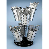 Cal Mil 1227-13 6-Ring Flatware Holder Stand