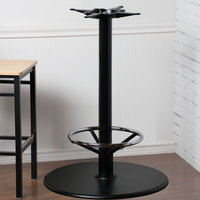 ... Lancaster Table U0026 Seating 30 Inch Black Round Bar Height Table Base, 3  Inch Column