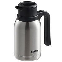 Thermos TGB06SC 20 oz. Stainless Steel Vacuum Insulated Carafe - Twist Top