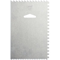 Ateco 1447 Aluminum 6 inch x 4 inch Decorating and Icing Comb