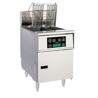 Anets AEH14TX D 20-25 lb. High Efficiency Twin Vat Electric Floor Fryer with Digital Controls - 240V, 1 Phase, 14 kW