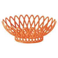 GET OB-940-RO Rio Orange Oval 10 inch x 8 1/4 inch Plastic Fast Food Basket 12 / Pack