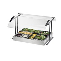 Cal Mil 2027-6-13 Black Double Face Tabletop Sneeze Guard – 73 1/4 inch x 27 1/4 inch x 21 1/2 inch