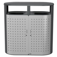 Rubbermaid 2006843 Resist Shield Dual 33 Gallon Anthracite Metallic and Stardust Silver Metallic Wastecan