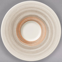 Villeroy & Boch 16-4021-1310 Amarah 5 1/2 inch Taupe Porcelain Saucer - 4/Case
