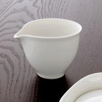 Villeroy & Boch 16-3293-0800 Dune 5.3 oz. White Porcelain Creamer - 6/Case