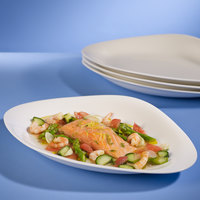 Villeroy & Boch 16-3293-2720 Dune 14 inch x 9 3/4 inch White Porcelain Oval Plate - 6/Case