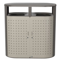 Rubbermaid 2006842 Resist Shield Dual 23 Gallon Umbra Gray Metallic and Pearl Mouse Gray Metallic Wastecan