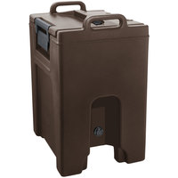 Cambro UC1000PL131 Ultra Camtainer 10.5 Gallon Dark Brown Insulated Soup Carrier