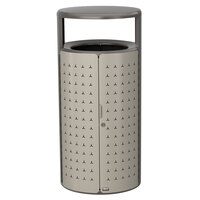 Rubbermaid 2006778 Resist Shield 33 Gallon Umbra Gray Metallic and Pearl Mouse Gray Metallic Wastecan
