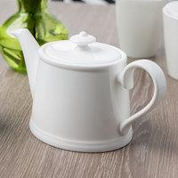 Villeroy & Boch 16-3272-0530 Stella Hotel 13.5 oz. White Bone Porcelain Teapot - 6/Case