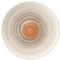 Villeroy & Boch 16-4021-2650 Amarah 8 1/4 inch Taupe Porcelain Flat Coupe Plate - 6/Case