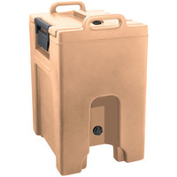Cambro UC1000PL157 Ultra Camtainer 10.5 Gallon Coffee Beige Insulated Soup Carrier