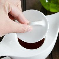 Villeroy & Boch 16-3293-0550 Dune 3 1/8 inch White Porcelain Teapot Lid - 6/Pack