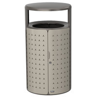 Rubbermaid 2006776 Resist Shield 23 Gallon Umbra Gray Metallic and Pearl Mouse Gray Metallic Wastecan