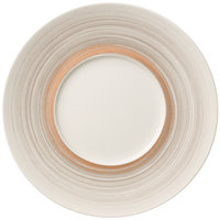 Villeroy & Boch 16-4021-2795 Amarah 11 1/4 inch Taupe Porcelain Flat Plate with 5 1/2 inch Well - 6/Case