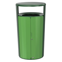 Rubbermaid 2006849 Resist Fan 33 Gallon Empire Green Gloss and May Green Gloss Wastecan