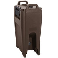Cambro UC500PL131 Ultra Camtainer 5.25 Gallon Dark Brown Insulated Soup Carrier