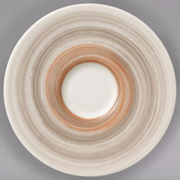 Villeroy & Boch 16-4021-1430 Amarah 4 3/4 inch Taupe Porcelain Saucer - 4/Case