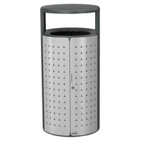 Rubbermaid 2006779 Resist Shield 33 Gallon Anthracite Metallic and Stardust Silver Metallic Wastecan
