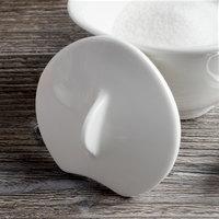 Villeroy & Boch 16-3293-0950 Dune 2 1/2 inch White Porcelain Sugar Bowl Lid