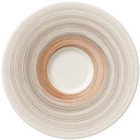 Villeroy & Boch 16-4021-1220 Amarah 6 5/8 inch Taupe Porcelain Saucer - 4/Case