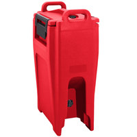 Cambro UC500PL158 Ultra Camtainer 5.25 Gallon Hot Red Insulated Soup Carrier