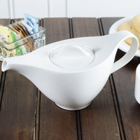 Villeroy & Boch 16-3293-0530 Dune 13.5 oz. White Porcelain Teapot - 6/Pack