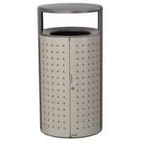 Rubbermaid 2006780 Resist Shield 45 Gallon Umbra Gray Metallic and Pearl Mouse Gray Metallic Wastecan
