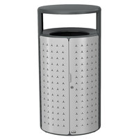 Rubbermaid 2006841 Resist Shield 45 Gallon Anthracite Metallic and Stardust Silver Metallic Wastecan